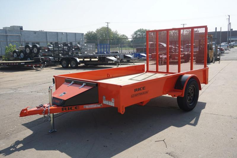 Rice 6'x10' Stealth Solid Side Utility Trailer
