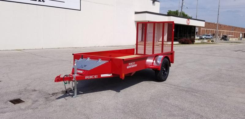 2019 Rice 5'x10' Stealth Solid Side Utility Trailer