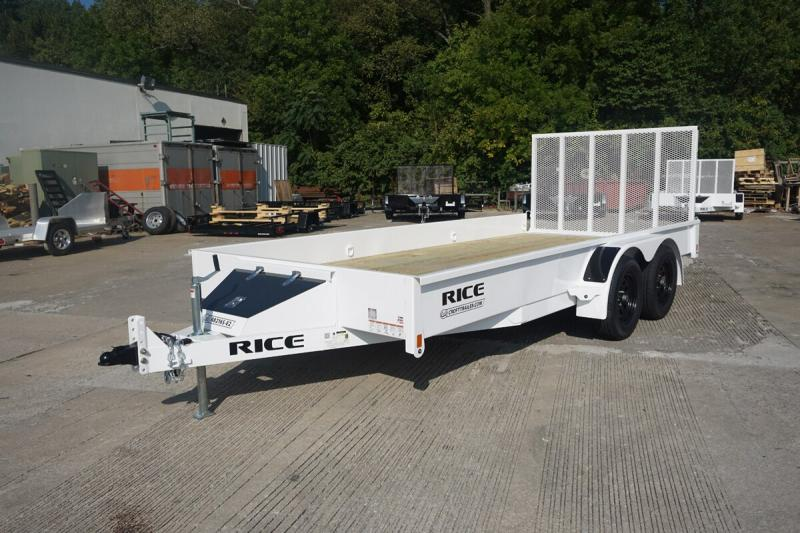 """Rice 82""""x16' Stealth Solid Side Utility Trailer"""