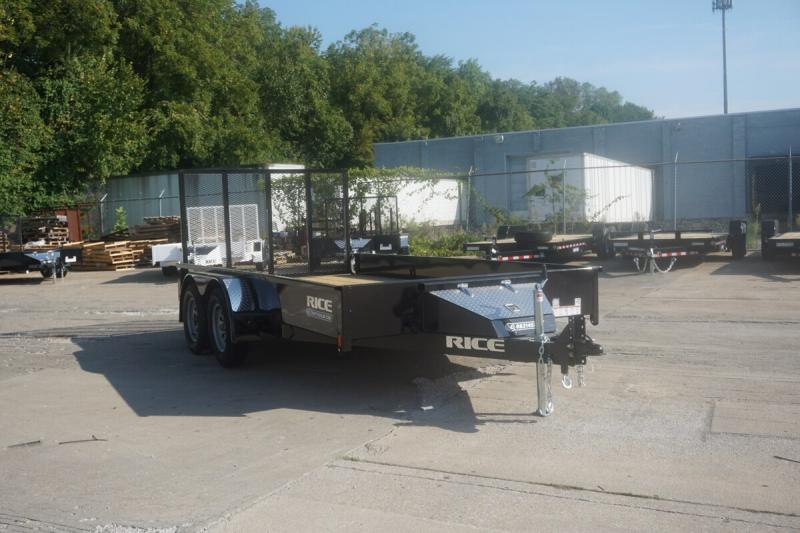 """Rice 82""""x14' Stealth Solid Side Utility Trailer"""