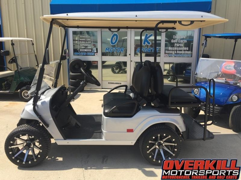 2018 StarEV Classic 48V Electric Golf Cart Street Legal 4-Pass - Silver