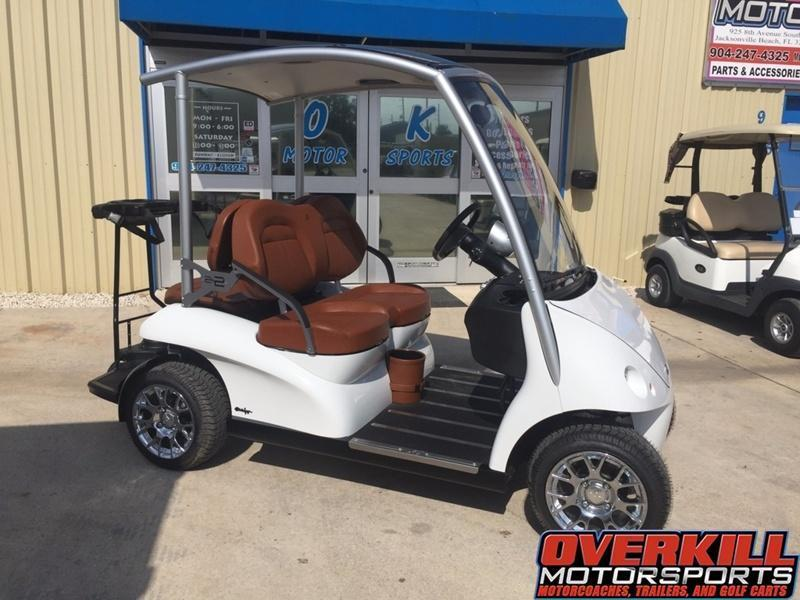 2019 Garia Electric Golf Car 4-Pass - White in Brunswick, GA