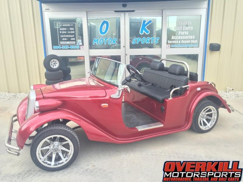2016 StarEV Roadster A/C Electric Golf Cart Street Legal 4 Pass - Red