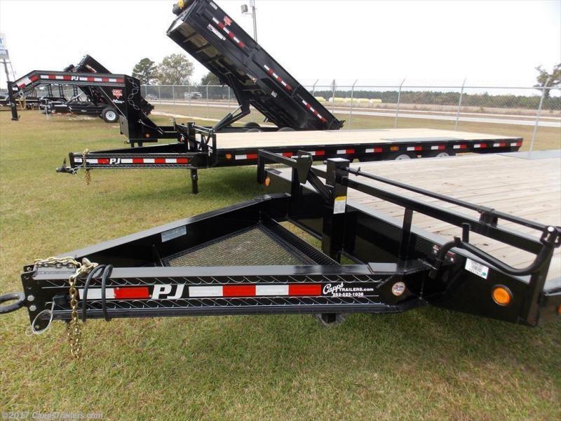 2020 PJ Trailers PJ F8J2272BSBKRT 14K Flatbed Trailer