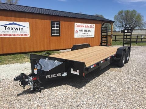 2018 Rice FMEM8220 Equipment Trailer