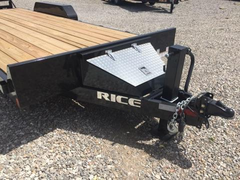 2018 Rice FMEM8220 Equipment Trailer