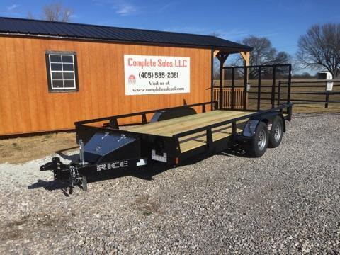 2018 Rice TDP8216 Utility Trailer