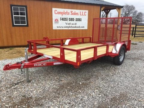 2018 Rice RS7612 Utility Trailer