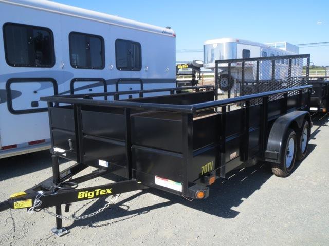 New 2019 Big Tex 70TV-14 7x14 7K GVW Utility Trailer