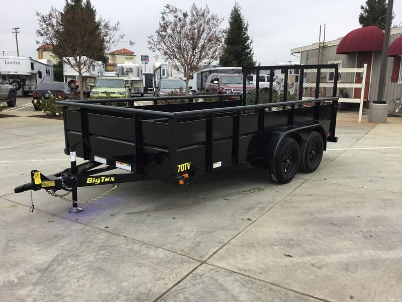 New 2019 Big Tex 70TV-14 7x14 7K GVW Utility Trailer