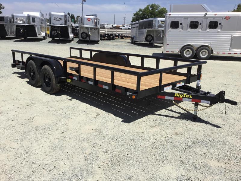 New 2019 Big Tex 7x18 10K GVW Pipe Utility Trailer