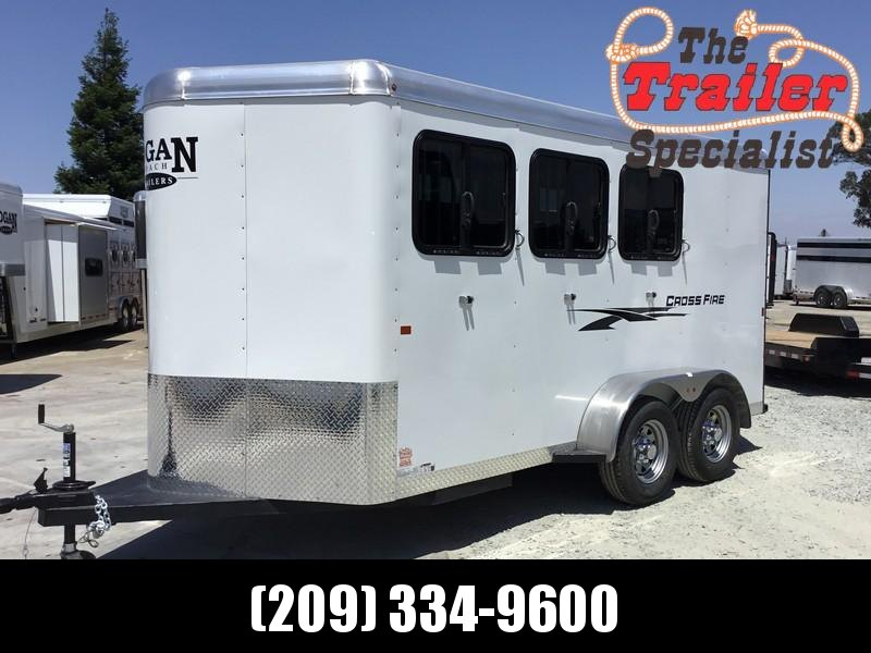 New 2019 Logan Coach Crossfire 3H Horse Trailer BP