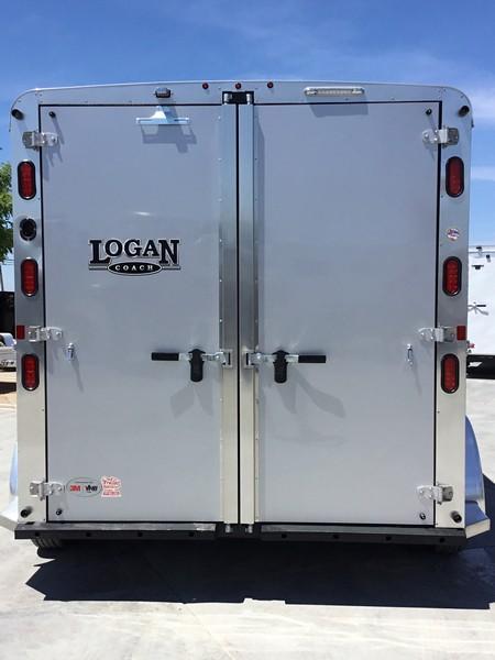 New 2019 Logan Coach Riot 2-Horse BP Horse Trailer