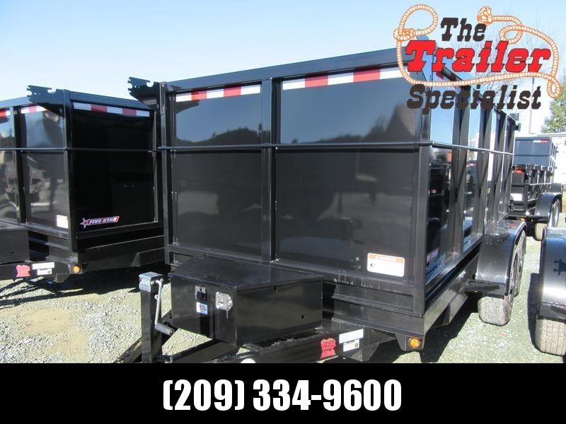 New 2019 Five Star DT262 6x12 10k Dump Trailer 4' sides