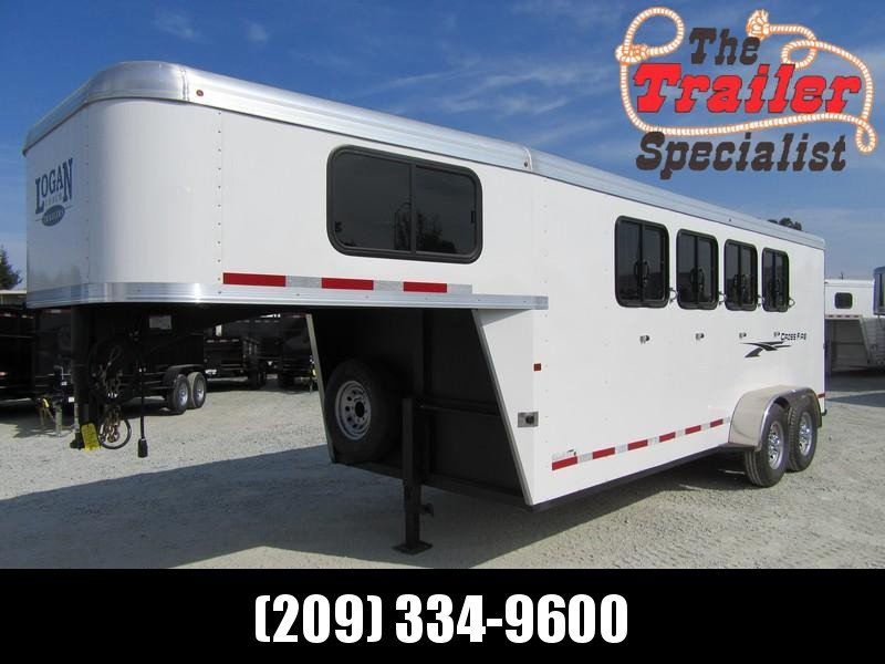 New 2019 Logan Coach Crossfire 4H GN Horse Trailer