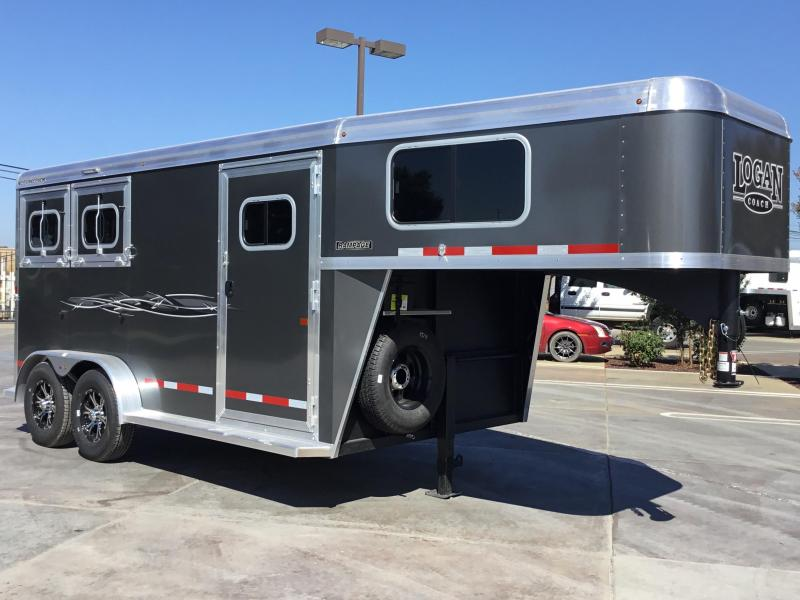 NEW 2019 Logan Coach 2H Rampage GN Horse Trailer