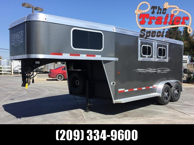 NEW 2019 Logan Coach 2H Rampage GN Horse Trailer