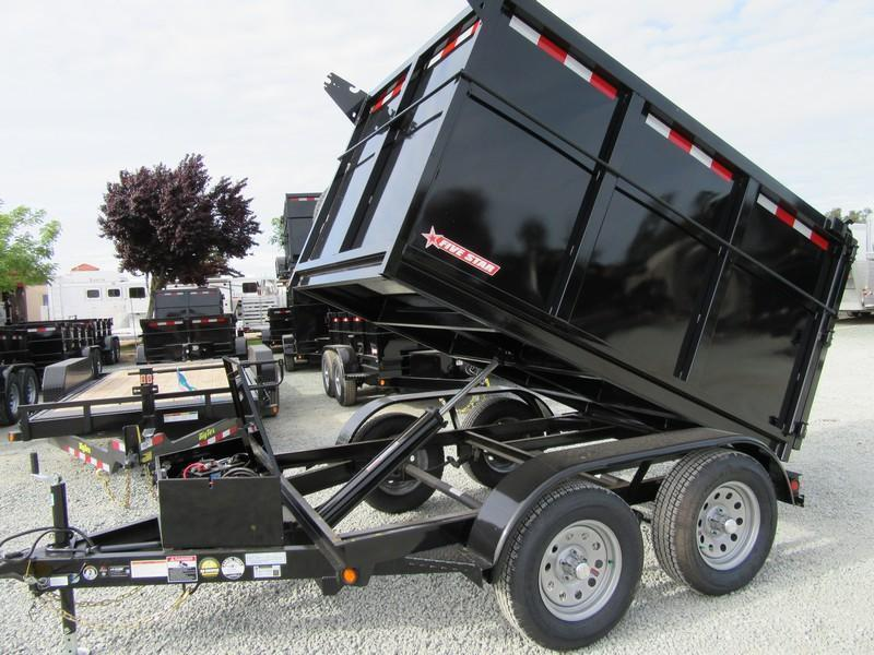 New 2019 Five Star DT290 5x8 Dump Trailer 7K 4' sides