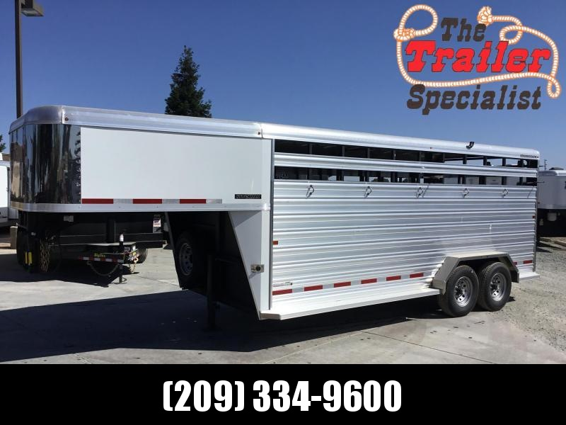 NEW 2019 Logan Coach 18 ft Stockman GN Livestock Trailer