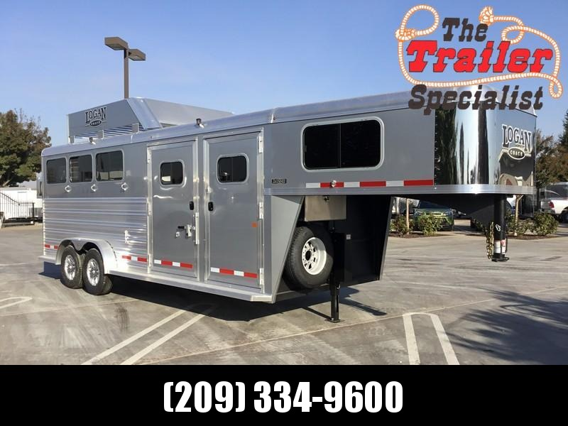 NEW 2019 Logan Coach 3H Razor GN Side Tack Horse Trailer