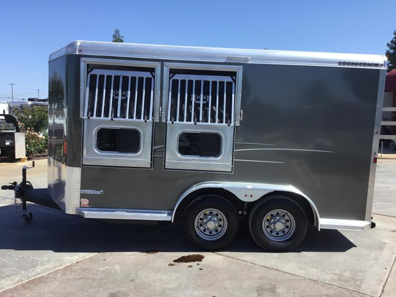 New 2019 Logan Coach 2 Horse Edge BP Horse Trailer