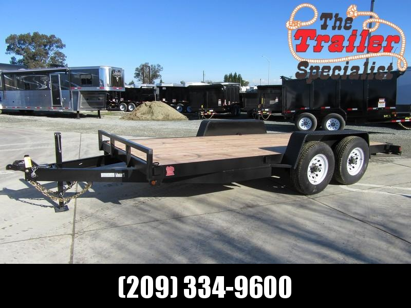 New 2018 Iron Panther ET099 7x16 14K GVW Equipment Trailer VIN 12918