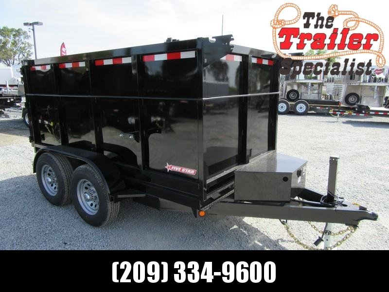 New 2019 Five Star DT256 D10 5x10 4' sides 10K Dump Trailer  in Ashburn, VA