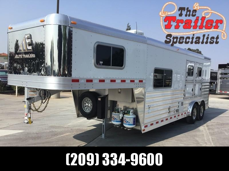 "NEW 2019 Elite Trailers 2 Horse Mustang 8'8"" LQ Horse Trailer"
