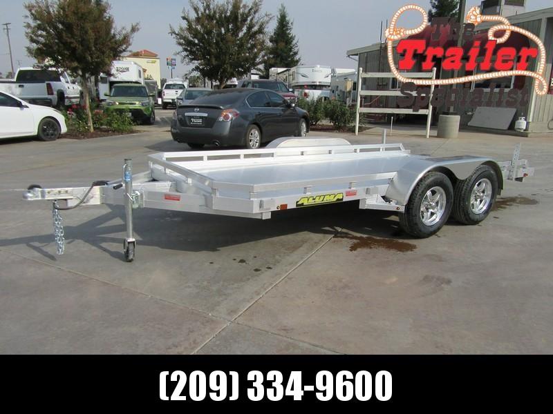 "New 2019 Aluma 7814R 78""x14' aluminum utility trailer"