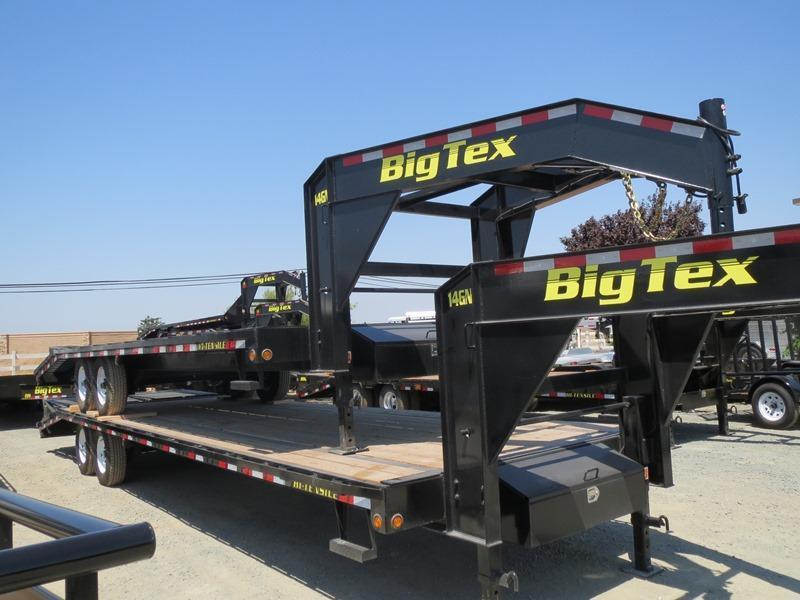 "New 2017 Big Tex 14GN-20+5 102""x 25' Equipment Trailer Vin 65552"