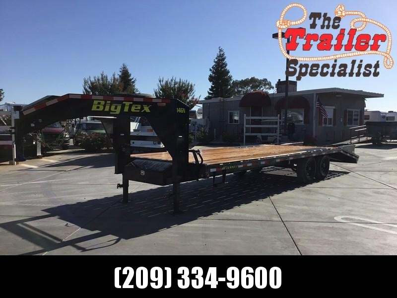 "New 2019 Big Tex 14GN-20+5 102""x 25' 15900# GVW Equipment Trailer in Circle, AK"