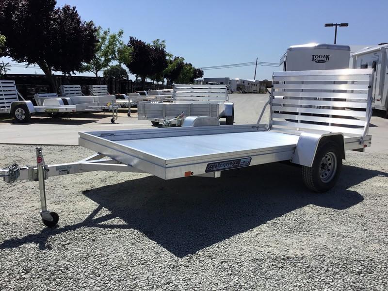 "New 2019 Aluma 7812ES 78""x12' Aluminum Utility Trailer"