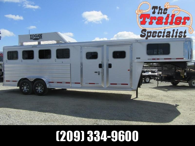 New 2019 Logan Coach Riot 4H GN Horse Trailer w/Side Tack