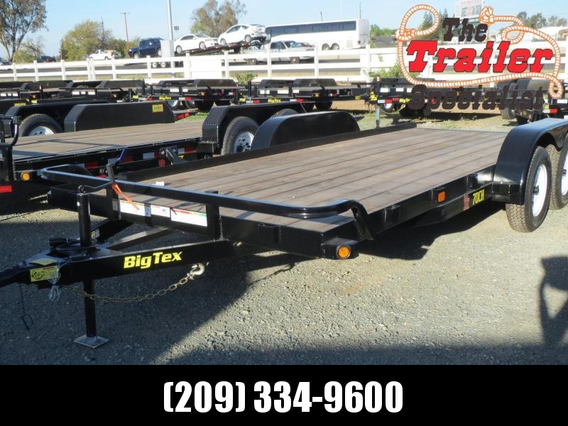 New 2019 Big Tex 70CH-18 7x18 7K GVW Car Hauler