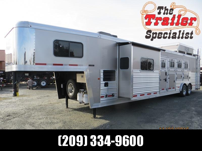 New 2017 Logan Coach Razor 4H w/12' LQ & Slide Out Horse Trailer Vin 04895