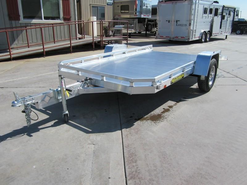 """New 2020 Aluma 7712HTilt 77""""x12 Tilt Aluminum Utility Trailer"""