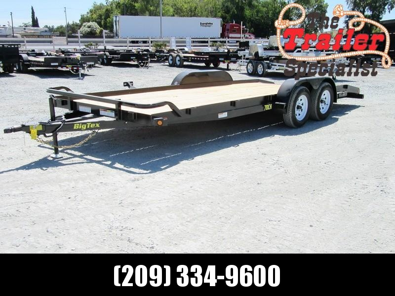 New 2018 Big Tex 70CH-20DTBK2 7x20 7K Car / Racing Trailer