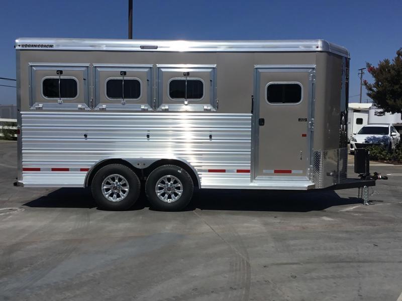 2019 Logan Coach 3H XTR BP Horse Trailer