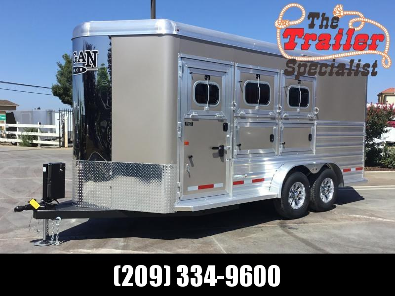 2019 Logan Coach 3H XTR BP Horse Trailer