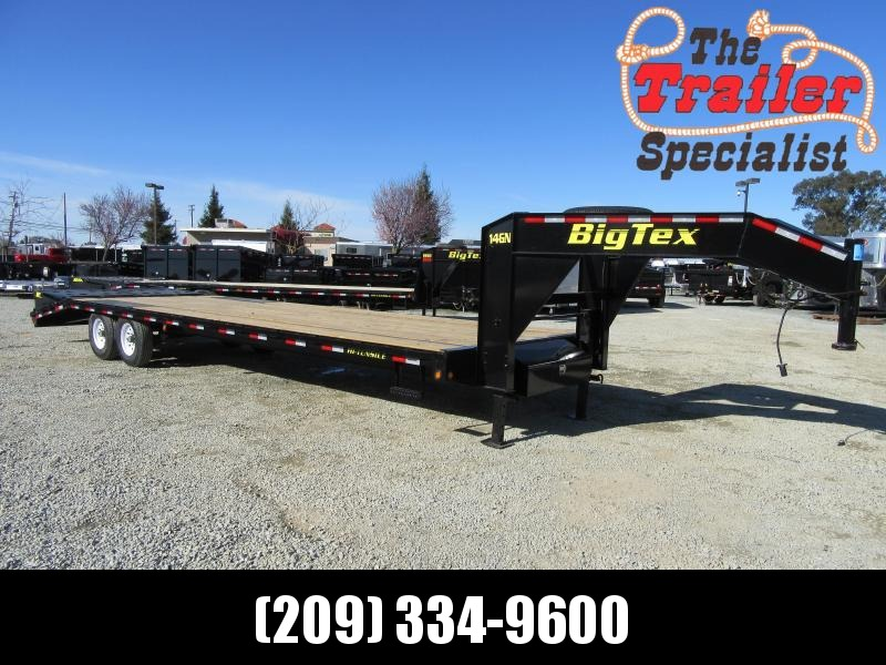 "New 2018 Big Tex Trailers 14GN-25+5MR 14K GVW 102""x30'  Flatbed Trailer Vin:17211"