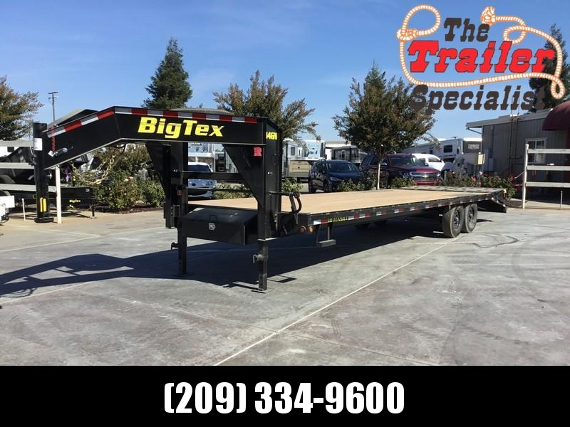 "New 2019 Big Tex Trailers 14GN-25+5MR 14K GVW 102""x30'  Flatbed Trailer in Hooper Bay, AK"