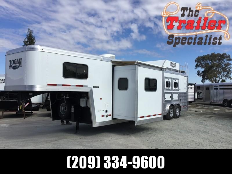 2019 Logan Coach 3 Horse Limited GN 12ft LQ Horse Trailer
