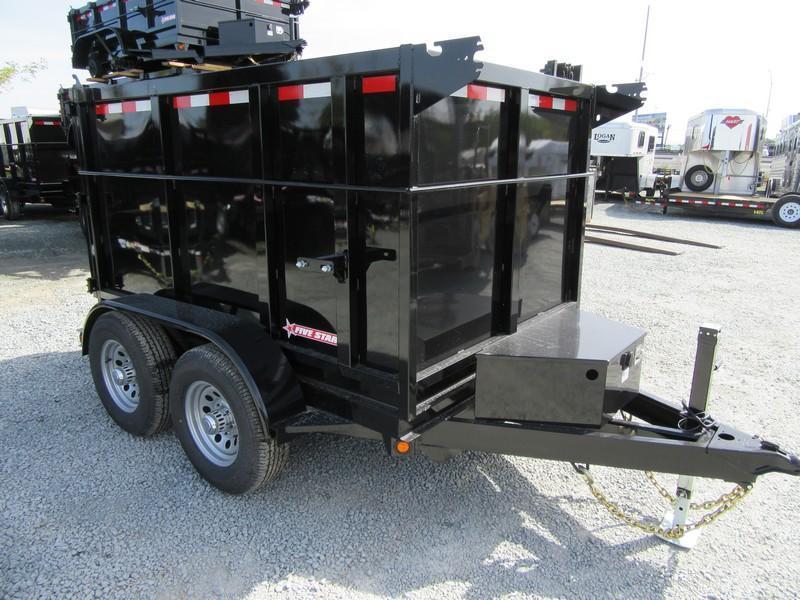 New  Five Star DT292 D105x8 10K Dump Trailer 4'sides