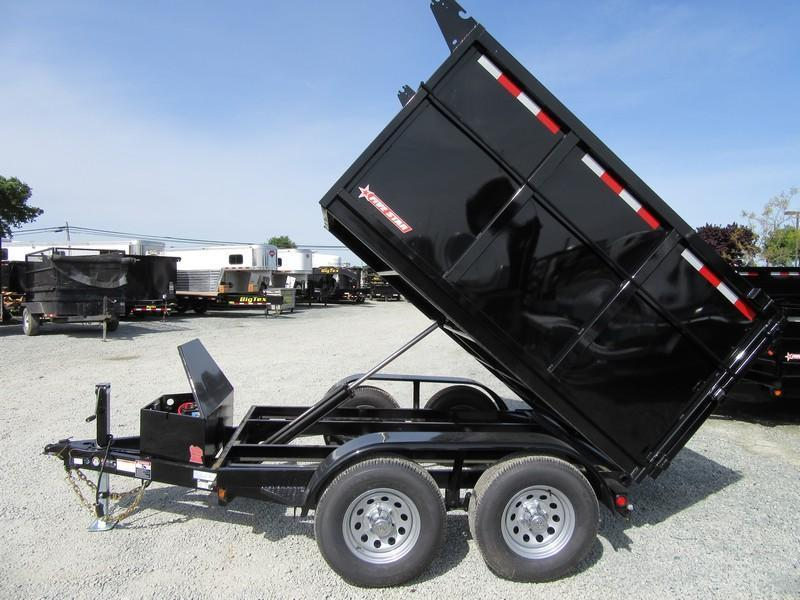 New 2018 Five Star DT292 D105x8 10K Dump Trailer 4'sides