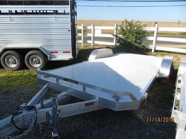 "New 2017 Aluma 8218B Car / Racing Trailer 82""x18' Beavertail VIN:47269"