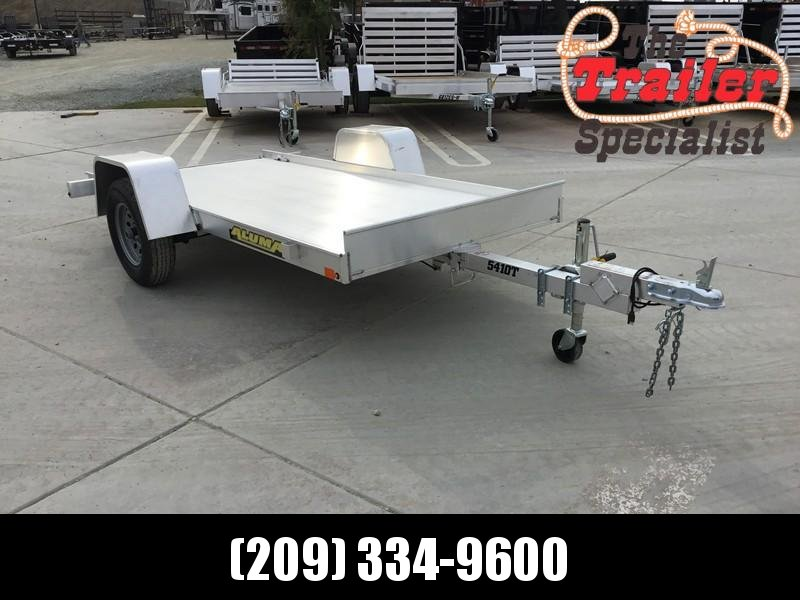 """New 2019 Aluma 5410T 54""""x10' 2K GVW Tilt Aluminum Utility Trailer"""