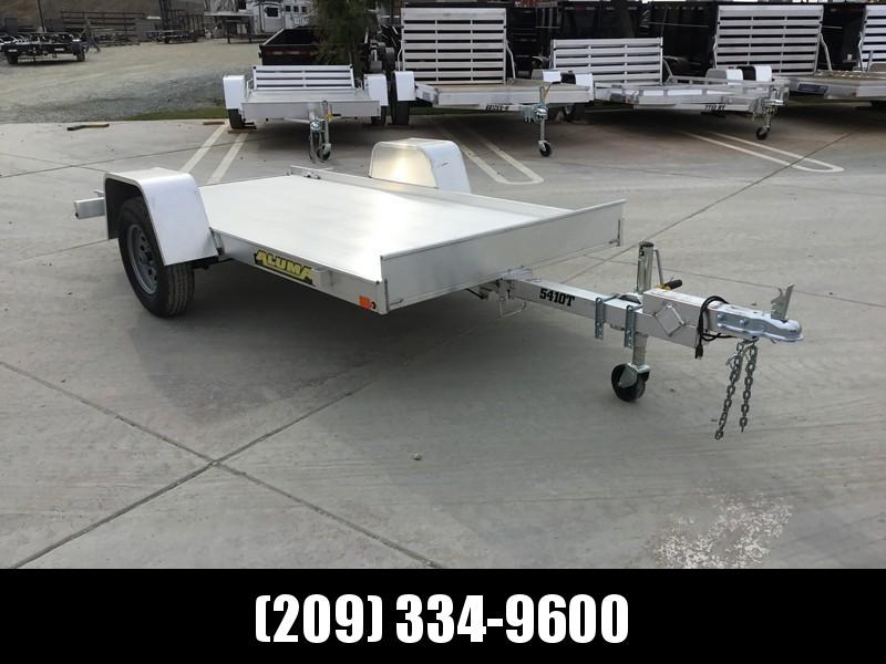 """New 2020 Aluma 5410T 54""""x10' 2K GVW Tilt Aluminum Utility Trailer"""