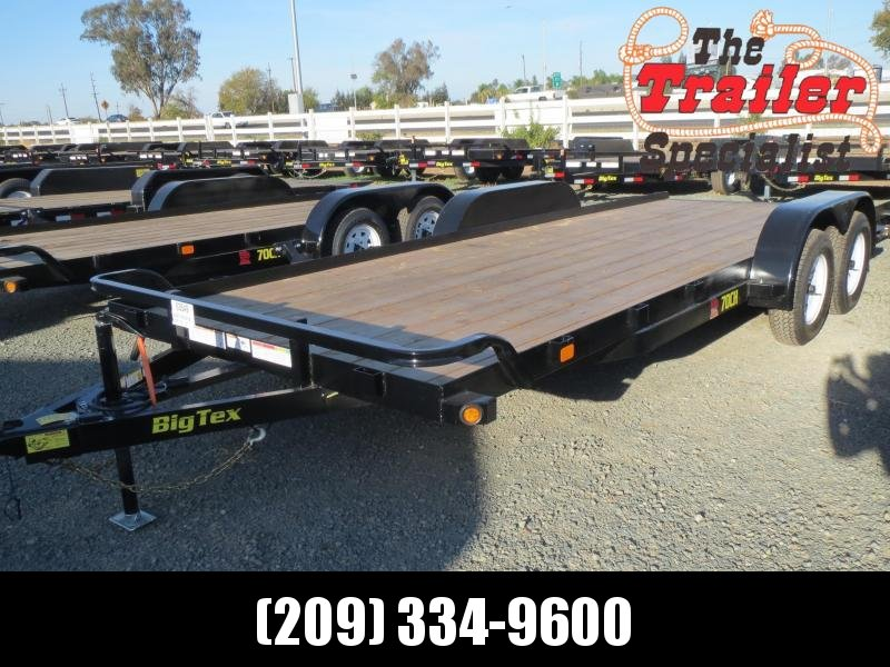 New 2018 Big Tex 70CH-20BRK2 7X20 7K Car / Racing Trailer