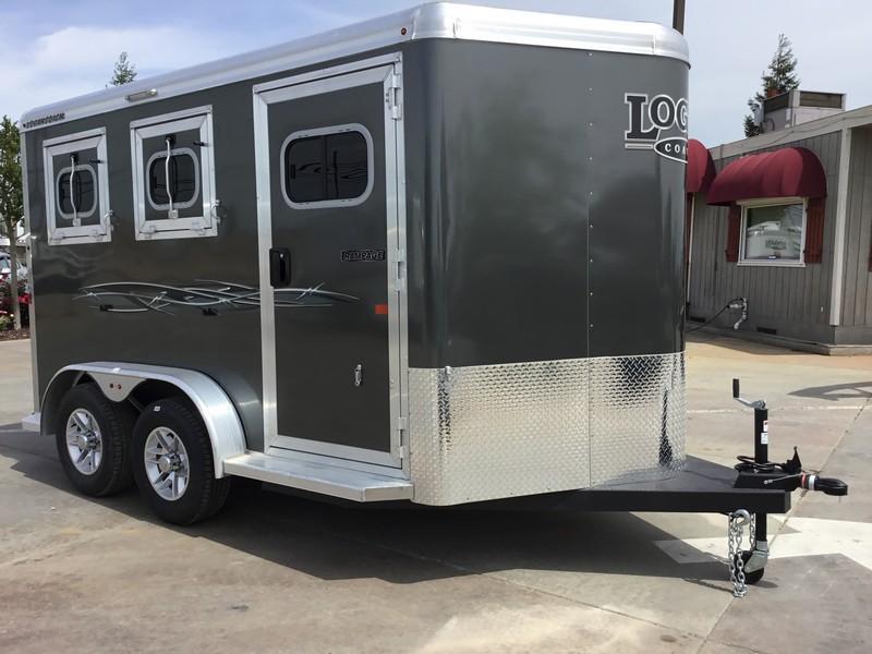 New 2018 Logan Coach Rampage 2-Horse BP Horse Trailer