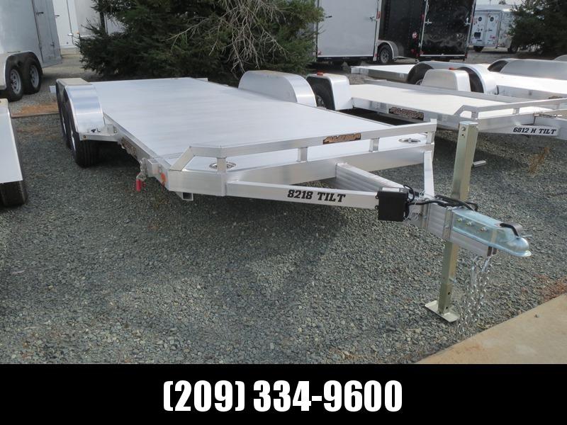 "New 2019 Aluma 8218Tilt 81""x18' Car / Racing Trailer in Ashburn, VA"